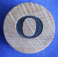 WordSearch Pressman Single Round Wood Letter O Tile Replacement Game Piece 1988