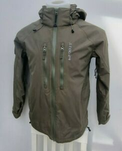 Men's TOG 24 Recco Khaki Zip Bomber Waterproof Ski Jacket Parka Size XS