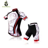 Mens Cycling Jersey Shorts Set Cycling Uniform Bike Short Sleeve Shirt Bike Top