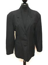BYBLOS VINTAGE '80 Giacca Donna Lino Rayon Linen Woman Jacket Blazer Sz.M - 44