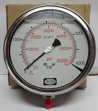 High Pressure Gauge 4000 BAR / 60000 PSI,GLY filled,SS Body-CRDI,Waterjet etc.