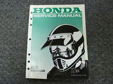 1988 Honda Model XR600R Dirt Bike Motorcycle Shop Service Repair Manual Book