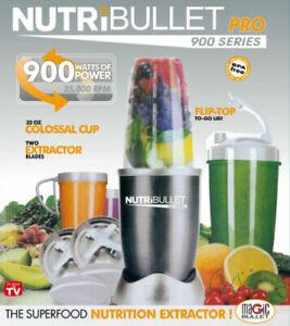 NUTRIBULLET PRO 900W VEGETABLE JUICER MIXER EXTRACTOR BLENDER 14PCS SET