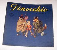 Libri ragazzi Collodi Pinocchio Illustrato Orsi disegni rilievo Albo n° 3 - 1946