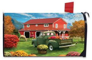 Farm Fresh Mums Autumn Magnetic Mailbox Cover Fall Standard Briarwood Lane