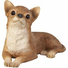 Sandicast Tan Chihuahua Sculpture, Lying, Small Size (SS02803)