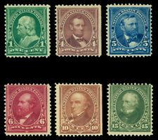 US 1897 Definitive series  Scott # 279-282, 282C, 284  (Yvert # 123-128) mint NG