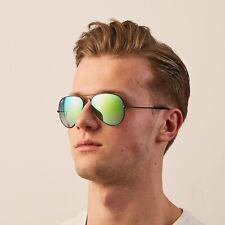 New Ray Ban Sunglasses Fashion Aviator RB3025 002/4J Black Flash Green Shades