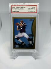 New listing 1998 TOPPS CHROME PSA 10 PEYTON MANNING #165  Colts RC ROOKIE HOF 🔥🔥🔥