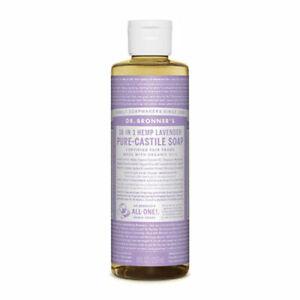Dr Bronners Pure Castile Soap Liquid (Hemp 18-in-1) Lavender 237ml - vegan