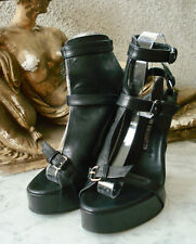 ANN DEMEULEMEESTER Buckled Strappy Gladiator Wedge Sandals #2 ~ 35 (US-5, UK-3)