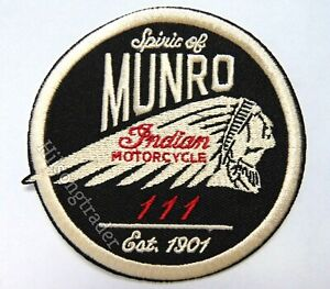 Indian Motorcycles Quality Products Est.1901 Embroidered Iron On Biker Patch!