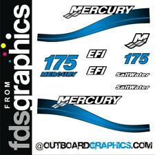 Mercury 175hp 2 stroke Saltwater EFI outboard decals/sticker kit