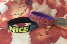 Boobies Rule!!! Silicone Wristband Lot of 2  NICE RACK NICE MELONS  Party Favors