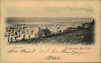 BORKUM ~1900 Strand Partie Nordsee Nordfriesland Wattenmeer Gruss-aus Postkarte