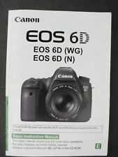 Canon Eos 6D (Wg) (N) Camera Instruction Book / Manual / User Guide