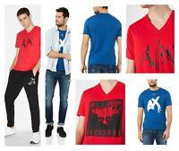 A X Armani Exchange Men's T-shirt S  Blue or Red Cotton Logo Tee