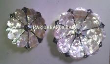 Set of 2 Marble Dry Fruit Bowl Rare Abalone Gems Mosaic Inlay Kitchen Gift H2861