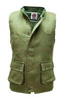 WWK Mens/Kids Derby Tweed Bodywarmer Gilet Dark Green Wool Hunting Shooting New