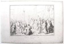 Stampa antica VENEZIA Elezione primo Doge Eraclea 1860 Old antique print VENICE
