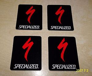 """4 NOS AUTHENTIC SMALL SPECIALIZED """"S"""" LOGO STICKERS / DECALS #8"""