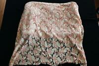 "RARE VINTAGE FRENCH  DEADSTOCK 1930'S SALMON SILK LACE FABRIC 7 YDS L X 32"" W"