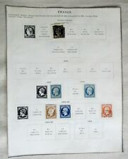 FRANCE STAMPS 1849- 1900  FROM OLD ALBUM PAGES