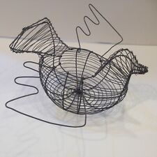 Vintage Wire Egg Collecting Basket Dove/Bird Shape Used Excellent Condition