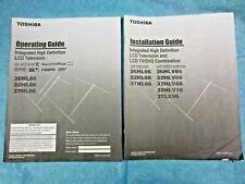 Toshiba LCD TV 26HL66,32HL66,37HL66 Manual,Install Guide