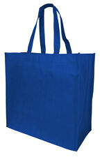 Jumbo Size Grocery Tote Shopping Bag Blue Reusable Eco Friendly Large Bags
