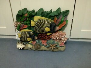 Bathroom Barrier Reef Fish Wall Sculpture - Design Toscano - Emperor Angelfish