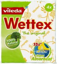 Vileda Wettex Original Dish Cloth Sponge Cloth 4 pcs Made in Sweden