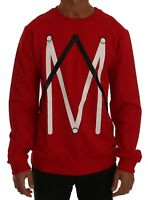 NEW $220 FRANKIE MORELLO Sweater Red Cotton Crewneck Pullover Mens Top s. XL
