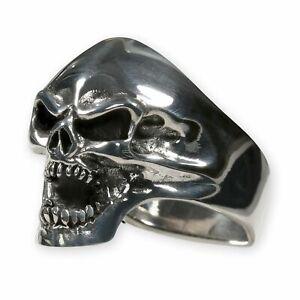 Totenkopf Edelstahl Ring Dämon Totenschädel Skull Biker Herren Gothic Schmuck