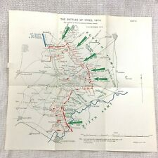 WW1 Military Operations Map The Battle Ypres France 21st October 1914 Army War