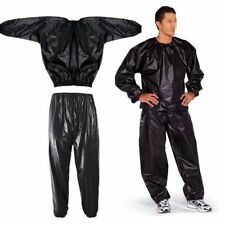 Heavy Duty Sweat Sauna Suit Gym Fitness Exercise Fat Burn Weight Loss Tracksuit