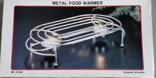 Metal food warmer with candles in box – new