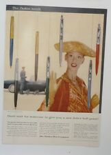 Original Print Ad 1955 PARKER PEN Company Jotter Ball Point Pen