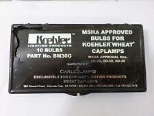 New Surplus Koehler BM30G 8 Bulbs Carle Lamps