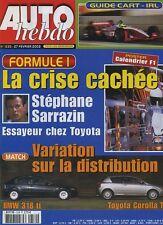 AUTO HEBDO n°1330 du 27 Février 2002 GUIDE CART IRL BMW 318i COROLLA TS
