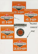 Scott Bonnar 45 Vintage Mower Briggs & Stratton Orange Engine Decals