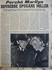 italian magazine 1956 MARILYN MONROE ARTHUR MILLER MARLEN DIETRICH