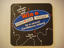 BEER Drink COASTER ~*~ Win A Remarkable Escape to a Secret Caribbean Island