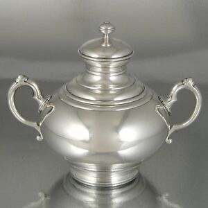 AntiqueFrenchChristofleSilver Plate Gold Washed SugarBowlRare 19th Century