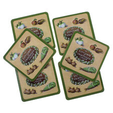 Neuf Jardin Museum Set de 6 Cork Coasters Légumes & Fruits