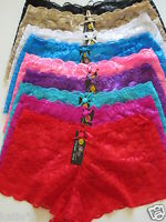 6 pcs Boyshorts Underwears Lace Panties Multi-Colors Underwear Multi-Color S-4XL