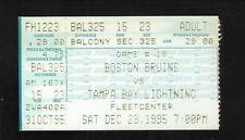 1995 Boston Bruins Ticket Stub vs Tampa Bay Lightning