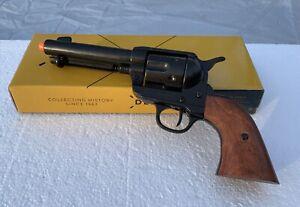 "Denix M1873 Colt Single Action 4.5"" Barrel Revolver Black with Wood Grips"