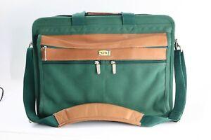 Port Laptop Security Brief Case Shoulder Messenger Bag Green