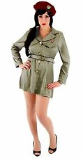 THE DICTATOR WOMENS VIRGIN GUARD ARMY DRESS HALLOWEEN MILITARY COSTUME, LARGE/XL